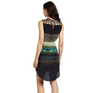 Charlie Jade Green and Black Cage Dress